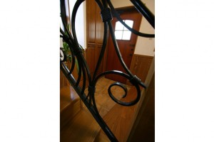 階段手すり鉄を加工したオリジナル品
