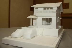 模型で、完成したときの様子が建て主さんにも、わかりやすく伝わります。