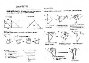 三角巾の使い方